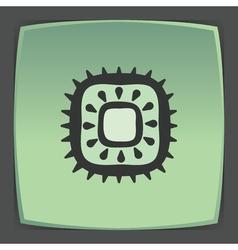 Outline kiwi fruit icon modern infographic logo vector