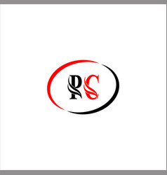p c letter logo monogram design vector image