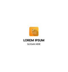 paper icon apps creative design logo vector image