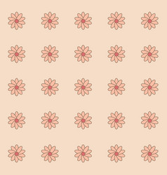 Pattern of flower vector