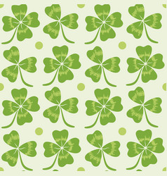 pattern with lucky clover vector image