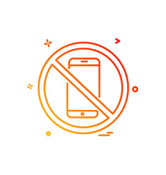 phone not allowed icon design vector image