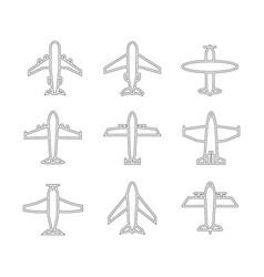 Plane icon set vector