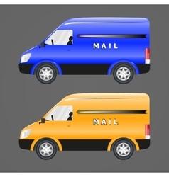 Postal vehicles vector