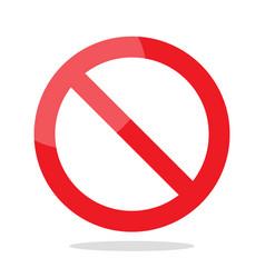 prohibition no symbol vector image