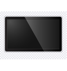 realistic modern tv screen vector image
