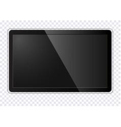Realistic modern tv screen vector