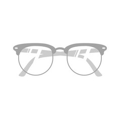 Realitic glasses isolated on white vector