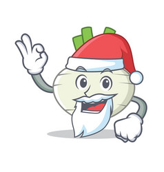 santa turnip mascot cartoon style vector image