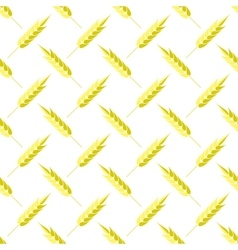 Seamless Wheat Pattern Set of Ears vector image