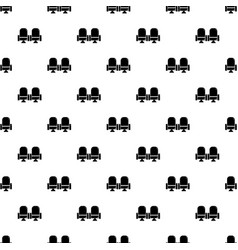 seat theater pattern seamless vector image