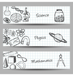 Set of Science Banners vector image vector image
