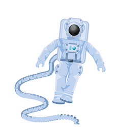 Space astronaut with hose avatar character vector