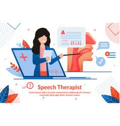 Speech therapist online consultation banner vector