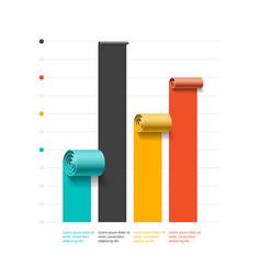 spiral business graph bar chart template vector image