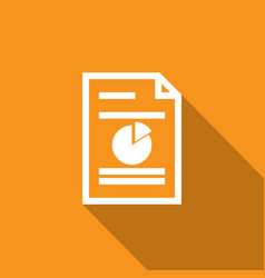 Spreadsheet document paper outline icon thin line vector