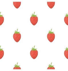 Strawberry icon cartoon Singe fruit icon vector