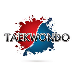 Taekwondo font vector