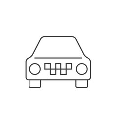 taxi car outline icon vector image