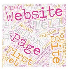 Tell me what your website does text background vector image