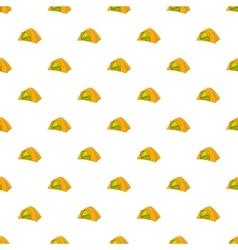 Tent pattern cartoon style vector image