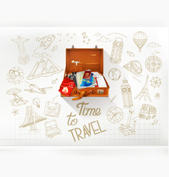 Time to travel infographics vector