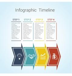 timeline arrows 4 vector image