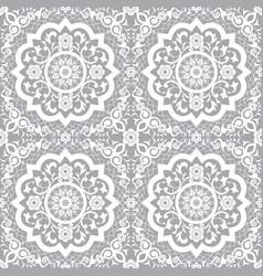 Traditional moroccan art mandala seamless pattern vector