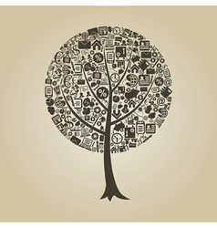 Tree business vector image