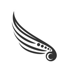 tribal wing mark symbol design vector image