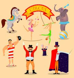 Vintage circus 2 vector