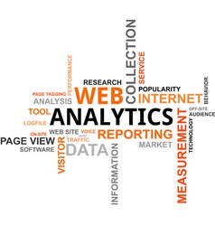 word cloud web analytics vector image