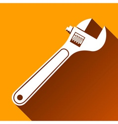 Wrench Icon Long Shadow vector image