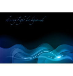 blue wave abstract vector image vector image