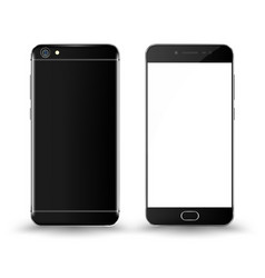 front and back smartphone mockup vector image