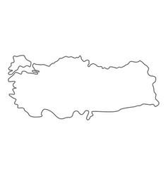 turkey map icon line vector image
