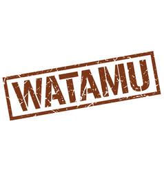 watamu brown square stamp vector image