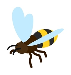 Bee icon isometric 3d style vector image