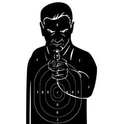 Black human target vector image