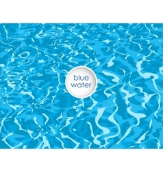 blue background of clean water vector image