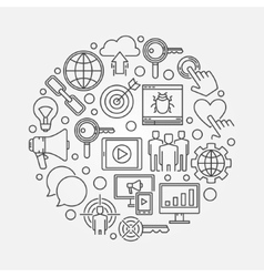 Internet marketing round vector image