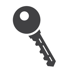 key solid icon security and password vector image