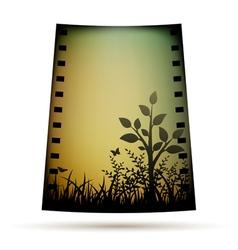Negative film with landscare vector image