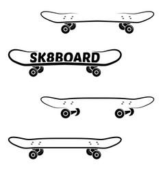 skate board logo template vector image