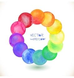 Watercolor rainbow frame vector image
