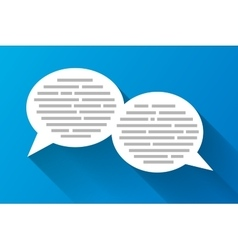 White speech bubbles with grey abstract text vector image vector image