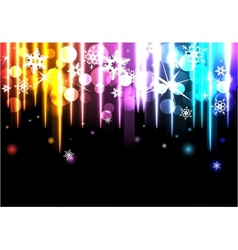 Disco background with snowflakes vector image