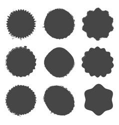 distress badge template vector image