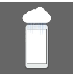 modern smartphone with binary code vector image