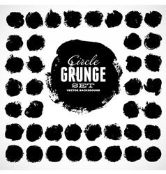 Set of grunge circles vector image vector image